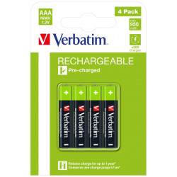 Verbatim RECHARGEABLE BATTERY AAA 4 Reference: W126181780