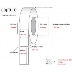 Capture Label 102x192, Core 25, Reference: CA-LB3032