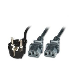 MicroConnect Power Y-Cord 1.8m Black IEC320 Reference: PE011318