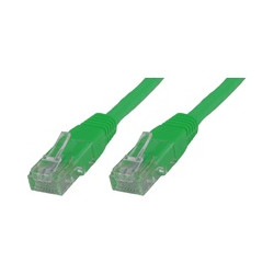 MicroConnect U/UTP CAT6A 0.5M Green LSZH Reference: UTP6A005G
