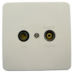 Maximum Wall outlet TV/Radio finish. Reference: 63501